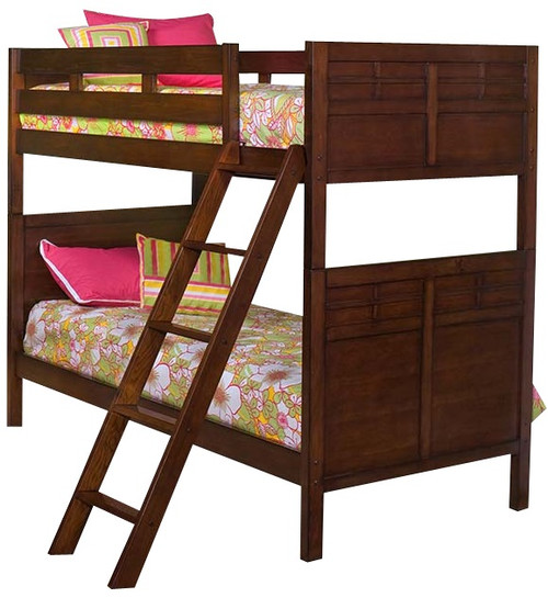 Langdon Cherry Twin Bunk Beds for Kids