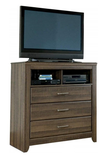 Rockport Distressed Brown Kids TV Stand with TV