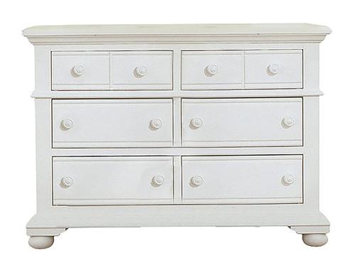 Seabrook Cottage White 6 Drawer Dresser