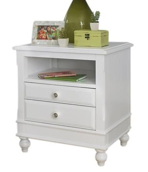Park Place White 2 Drawer Nightstand