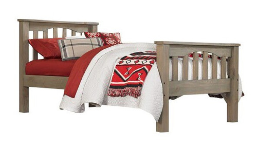 Crosspointe Driftwood Mission Bed twin size