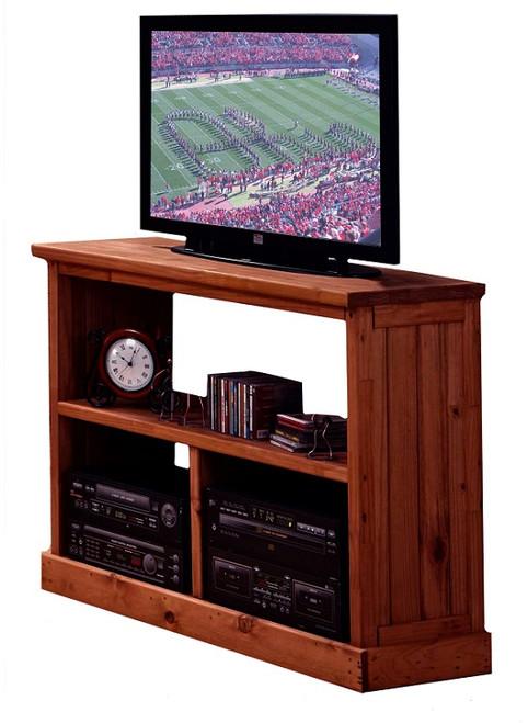 Jericho Mahogany TV Stand with Shelves