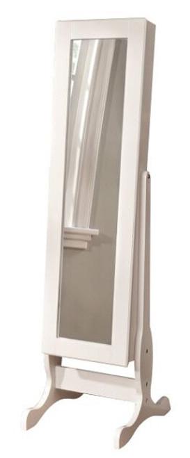 Hutton White Jewelry Storage Mirror