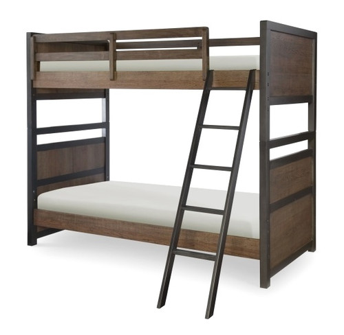 Nathan Road Distressed Brown Bunk Beds twin size