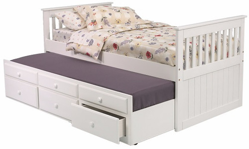 Hillary Twin Combo Captain's Bed White