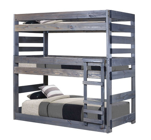 Tribeca Distressed Twin Triple Bunk Bed