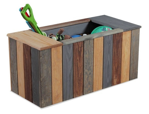 Jericho Mahogany Wooden Storage Chest (Image represents style with center opening and no lid)