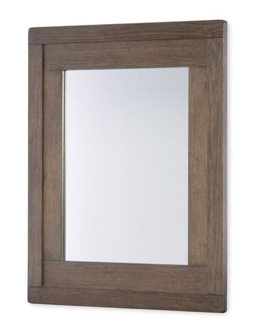 Nathan Road Distressed Brown Wood Frame Mirror