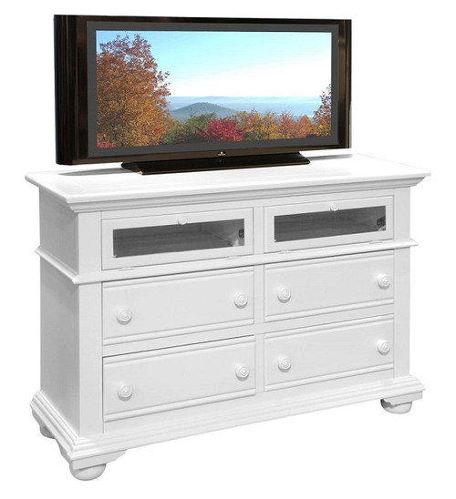 Seabrook Cottage White Entertainment Chest