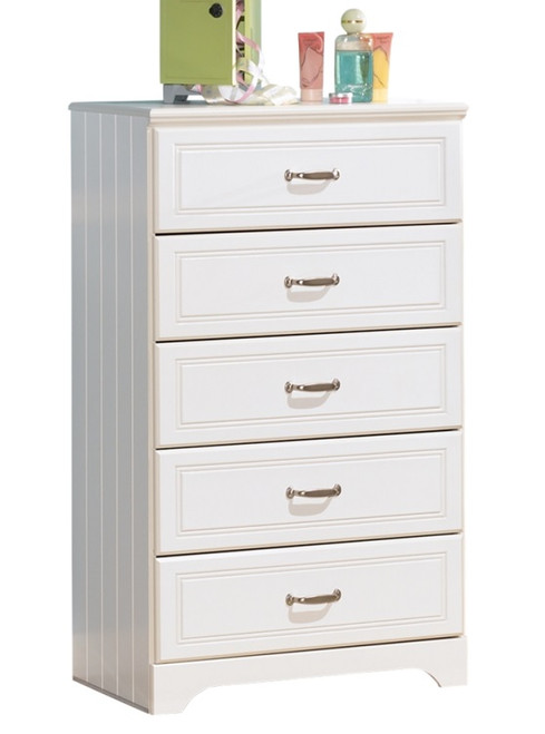 Milan White Chest of Drawers