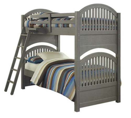 Boardwalk Stone Gray Twin over Twin Bunk Beds
