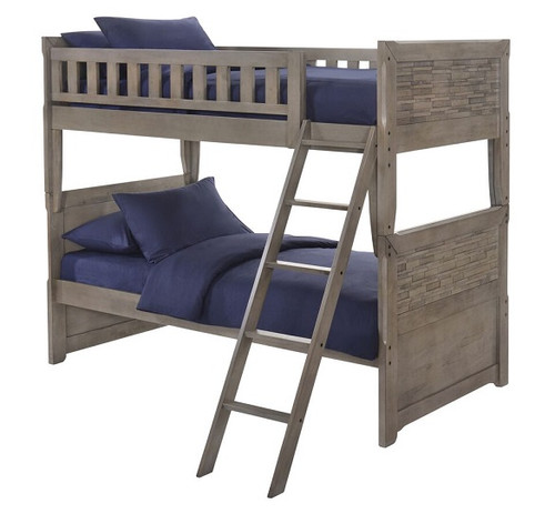Endicott Rubbed Gray Twin over Twin Bunk Beds