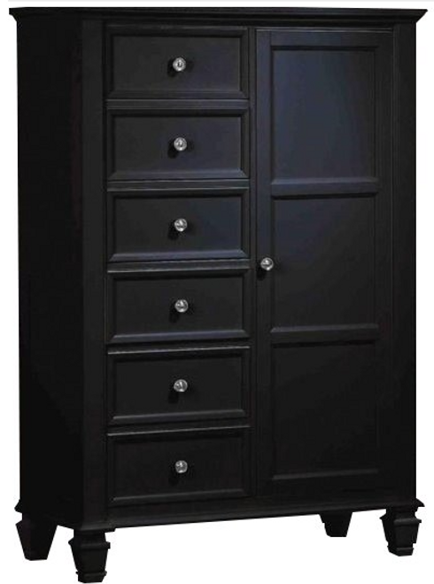 Wheeler Door Drawer Chest Black