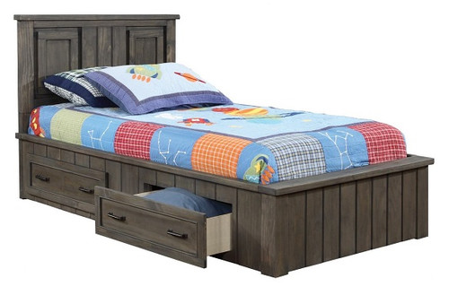Owen Distressed Gray Captains Bed