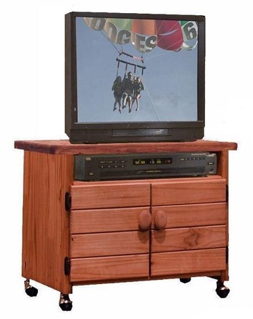 Jericho Mahogany TV Cart