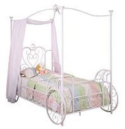 Cinderella Twin Size Carriage Poster Bed