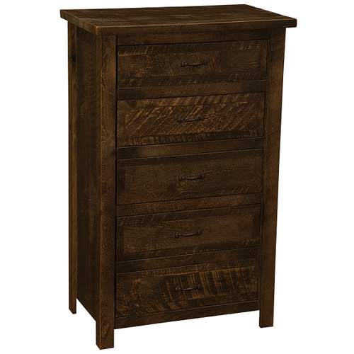 Brighton Five Drawer Chest Rustic Brown