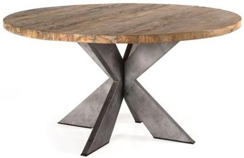 Mantauk Round Teak Wood Dining Table