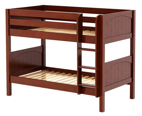 Southern Shores Chestnut Low Bunk Beds twin size