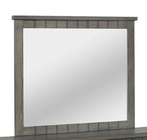 Owen Distressed Gray Mirror