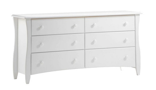 Hollywood White 6 Drawer Dresser