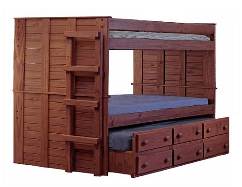 Haverhill Mahogany XL Full Bunk Bed with Trundle