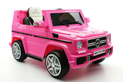 Mercedes G65 Kids Ride-On Electric Car Pink