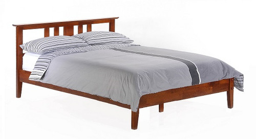 Eastwood Cherry Platform Bed Frame with Headboard