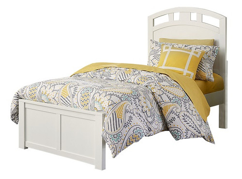 Caitlin White Twin XL Arch Bed