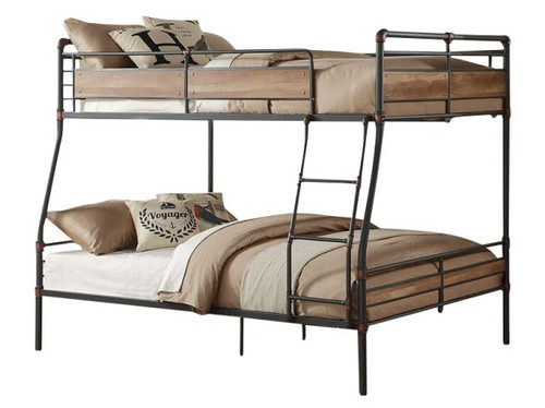 Ballard Industrial Metal Full over Queen Bunk Bed