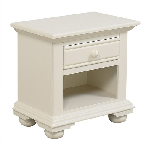 Seabrook Cottage White Open Nightstand