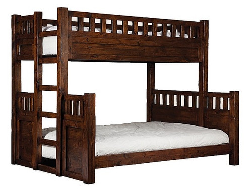 Stone Mountain Extra Long Twin over Twin Bunk Bed Chestnut