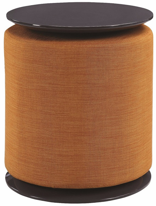 Byrd Round Accent Table with Ottoman