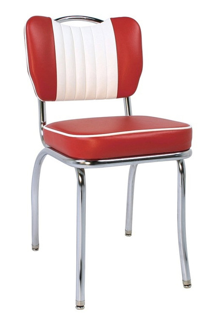 Crater Retro Diner Chair with Flame Vinyl