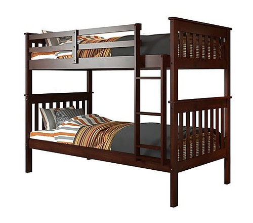 Weatherford Dark Cappuccino Twin over Twin Bunk Beds