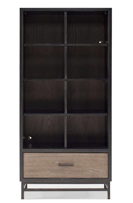 Denali Weathered Brown & Black Tall Bookcase