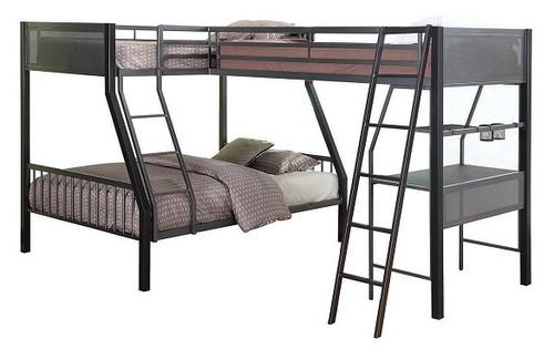 Jakks Metal Twin over Full L Shaped Triple Bunk Bed