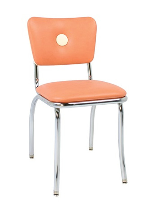 Orion Retro Diner Chair shown with Apricot Vinyl