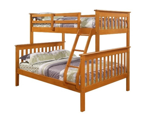 Banning Honey Twin over Full Bunk Bed