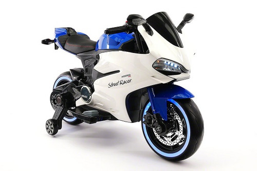 Street Racer Ride-On Electric Motorcycle Blue