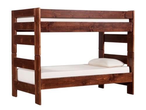 Prescott Cocoa Twin over Twin Wooden Bunk Beds