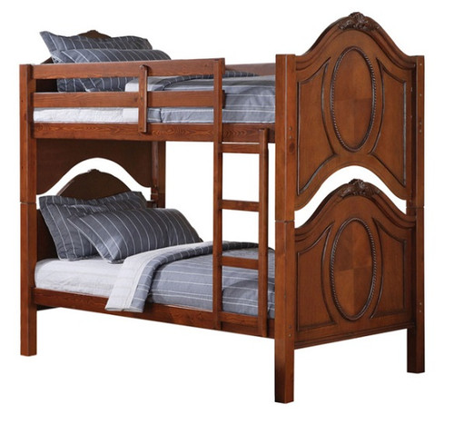Nob Hill Cherry Twin over Twin Bunk Beds