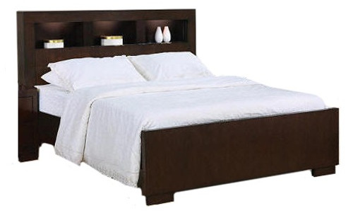 Makenna Bookcase Bed Cappuccino