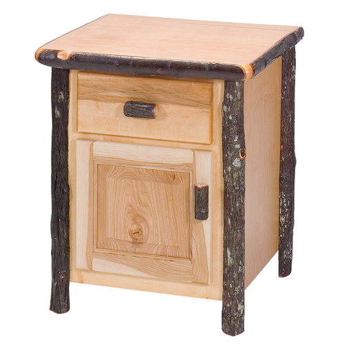 Whistler Enclosed Nightstand Traditional Hickory