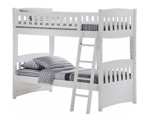 Hollywood White Twin over Twin Bunk Beds