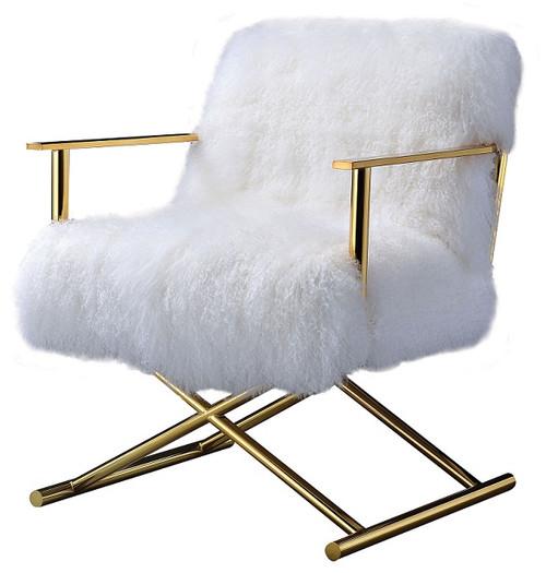 Sherpa Fur Director's Chair