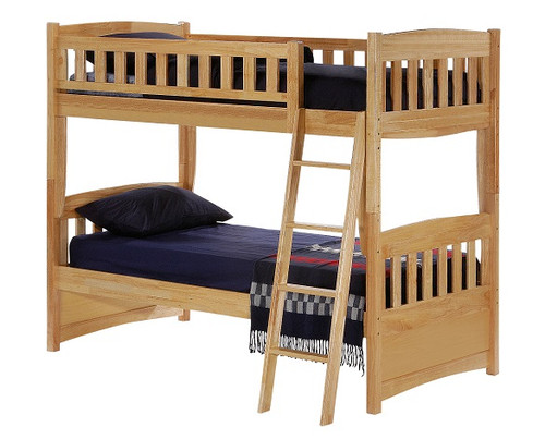 Bailey Natural Twin over Twin Bunk Beds