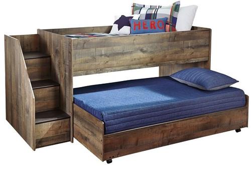 Ramada Plank Twin Size Mid High Stairway Loft Bed