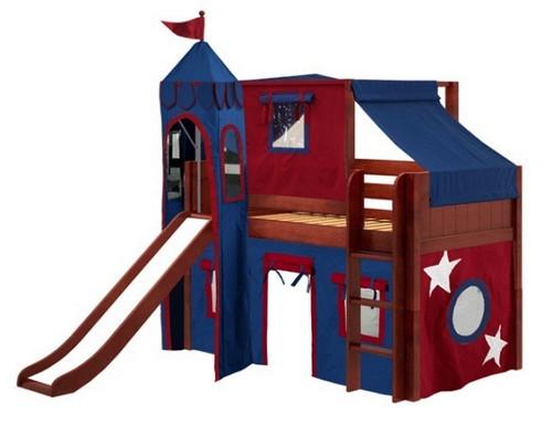 Lancelot Chestnut Fun Castle Boys Loft Bed