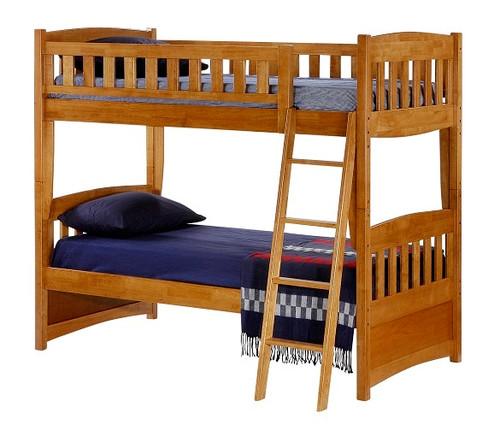 Kirkwood Oak Twin over Twin Bunk Beds